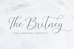 The Britney - Calligraphy Script Product Image 1
