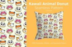 Kawaii Animal Donut - Seamless Pattern Product Image 1