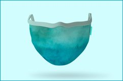 Turquoise Watercolor Background, Sublimation Watercolor Product Image 6