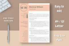 Minimalist CV Template for Ms Word Product Image 2