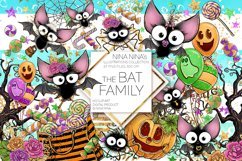 Cute Halloween Clipart, Bats Clip Art PNG Pack Product Image 1