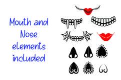 DIY Face Mask Design Kit Svg Cut Files Product Image 2