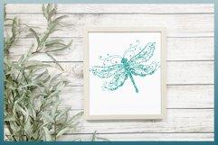 Beautiful Intricate Dragonfly Mandala Zentangle SVG Product Image 6