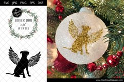 Boxer Dog #7 with Wings SVG, Pet Memorial, RIP Angel Product Image 3