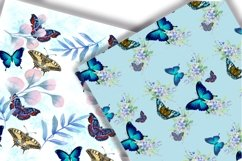 Butterflies Digital Paper.Seamless pattern. Product Image 4