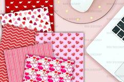 Pink Valentine Digital Paper Pack Product Image 2