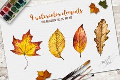 Watercolor autumn leaves Product Image 2