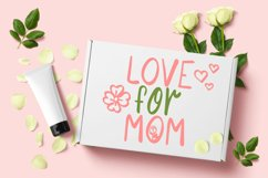Flower Mom - girl kids font with flower doodle Product Image 6