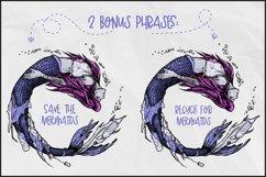 Mermaid T-shirt Design, Mermaid PNG, Plastic Pollution Art Product Image 3