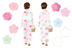 Japanese Kimono Girl Clipart Product Image 2