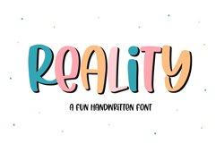 Reality - A Fun Handwritten Font Product Image 1
