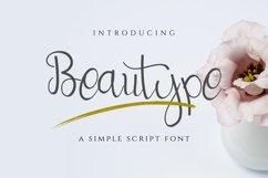 Beautype - Simple Script Font Product Image 1