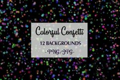 12 Colorful Confetti Backgrounds png, jpg Product Image 1