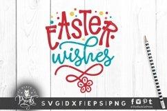 Easter Wishes SVG | Easter SVG | Floral Easter SVG Cut File Product Image 2