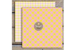 Pink Lemonade Digital Papers and Lemon Clipart Product Image 3