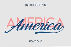 America Font Duo Product Image 1