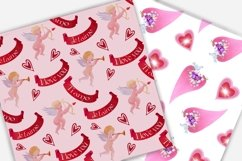 Valentine's day digital paper.Seamless pattern. Product Image 5