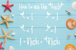 Madison's tail - A mermaid font plus nautical doodles Product Image 4