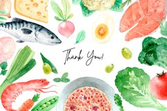 Organic Food. Watercolor Clipart Set Product Image 4