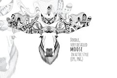 Textured moose in aztec style Product Image 1
