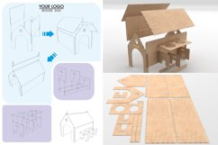PUPPY HOUSE - laser cutting file Product Image 2
