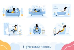 Stay at home. Vector collection. Product Image 3