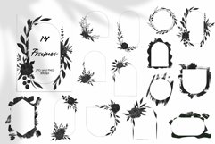 Black Flowers And Abstract Clipart Product Image 2