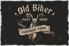 Old Biker. Gothic style vintage label font. Product Image 1