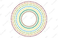 Colorful rainbow ethnic tribal frame wreath vector Product Image 1