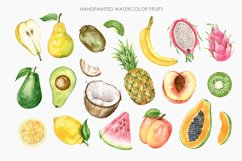 Watercolor Tropical Fruit Clipart. Food illustration Product Image 2