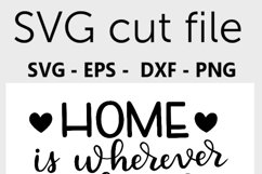 Home SVG - Home is wherever my bunch of crazies are SVG file Product Image 3