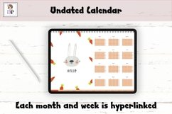 Fun Undated Weekly Digital Planner PDF CLICKABLE links v1 Product Image 2