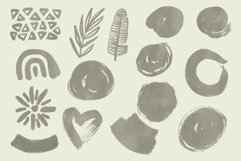 Boho abstract Procreate stamp brushes and palettes Product Image 6