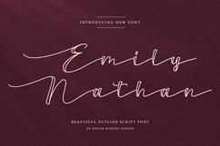 Outline Script Font - Emily Nathan Product Image 1