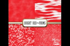 Bright Red Forms - 10 Digital Papers/Backgrounds Product Image 3