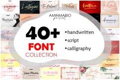 40 Font Collection Bundle Product Image 1