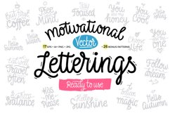 Motivational Vector Letterings Product Image 1