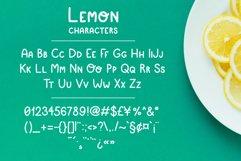 Simple playful font - Lemon Product Image 2