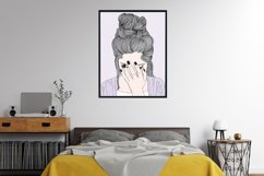 Wall art A woman crying sad Product Image 6