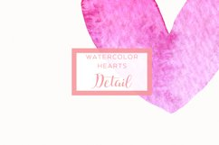 15 Watercolor Pink Hearts Product Image 2