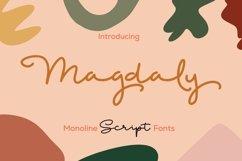 Web Font Magdaly - Monoline Script Font Product Image 1