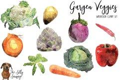 Garden Veggies Watercolor Clipart Product Image 2