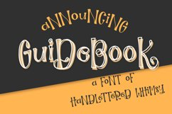 Guidebook - Hand lettered Whimsy Font Product Image 1