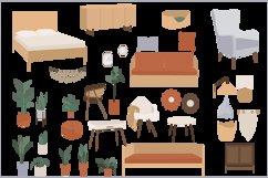 Bohemian Decor Illustrations, interior design, furniture cli Product Image 2