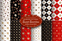 Sweet Seamless Patterns. Watercolor illustrations in Realism Product Image 2