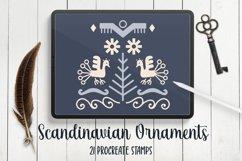 Scandinavian Abstract Modern Folk Art Procreate Stamps Product Image 1