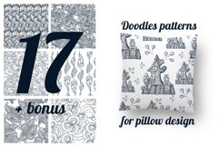 17 Doodle patterns for pillow design Product Image 1