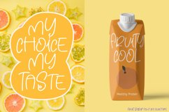 Fruit Syrup - A Fun Font. Product Image 2