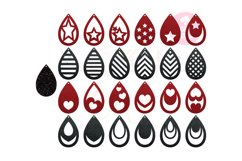 Teardrop Earring Template  50 Templates Earring svg Product Image 1