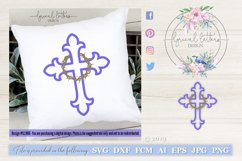 Cross With Crown of Thorns SVG DXF FCM LL106 Product Image 1